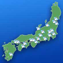 北海道以外での雪虫生息マップ